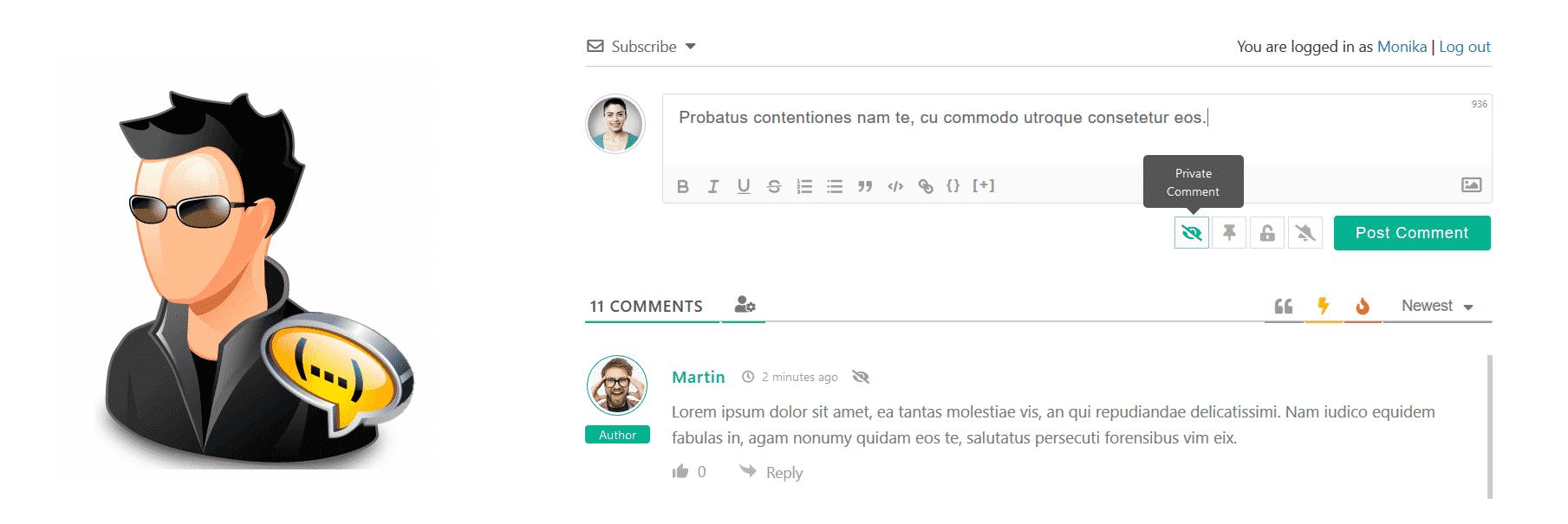 Приватные и Анонимные комментарии