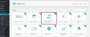 Вкладка «Авторизация и данные пользователя»
