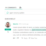 Дополнение wpDiscuz Comment Search